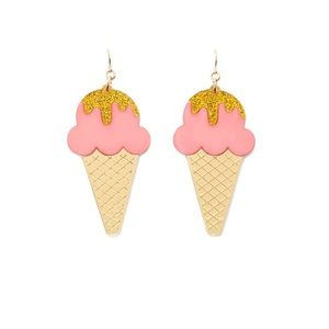 Forever 21  Ice cream drop earrings.